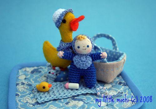 Blue baby light blue bib