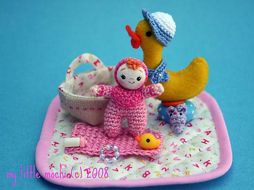 Pink baby magenta bib