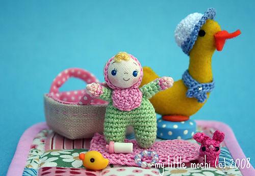 Mint green baby pink bib