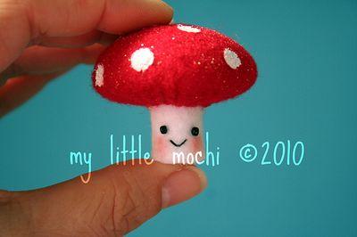 © 2010 my little mochi mushroom tutorial