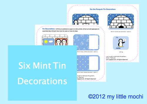 Mint tin decorations