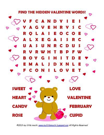 My Little Mochi Valentine Word Find
