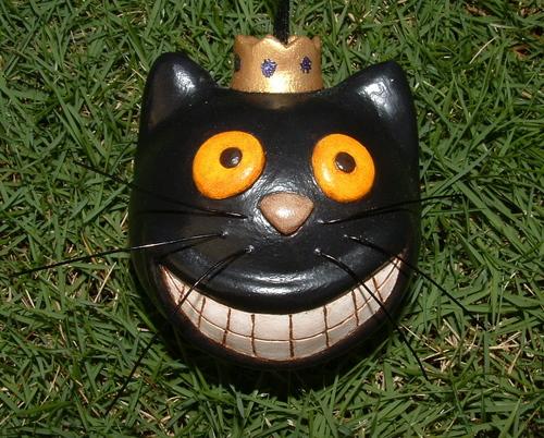 Paper clay Mochi the Cat ornament