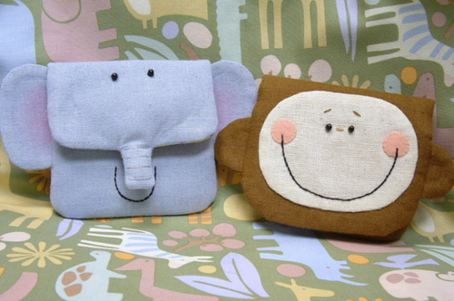 Elephant and monkey pouch